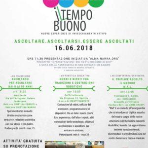 """Nuovo progetto sull'invecchiamento attivo: nasce """"Il Tempo Buono"""". Ascoltare. Accogliere. Valorizzare."""